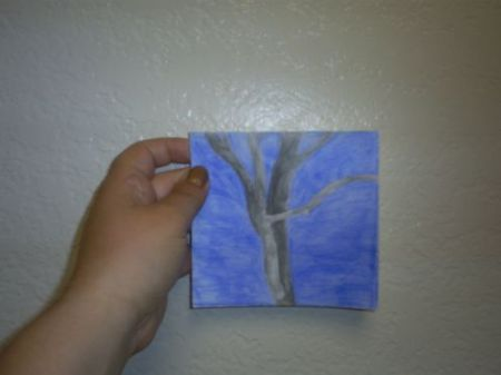 Here is a card I made with a picture of a simple tree.